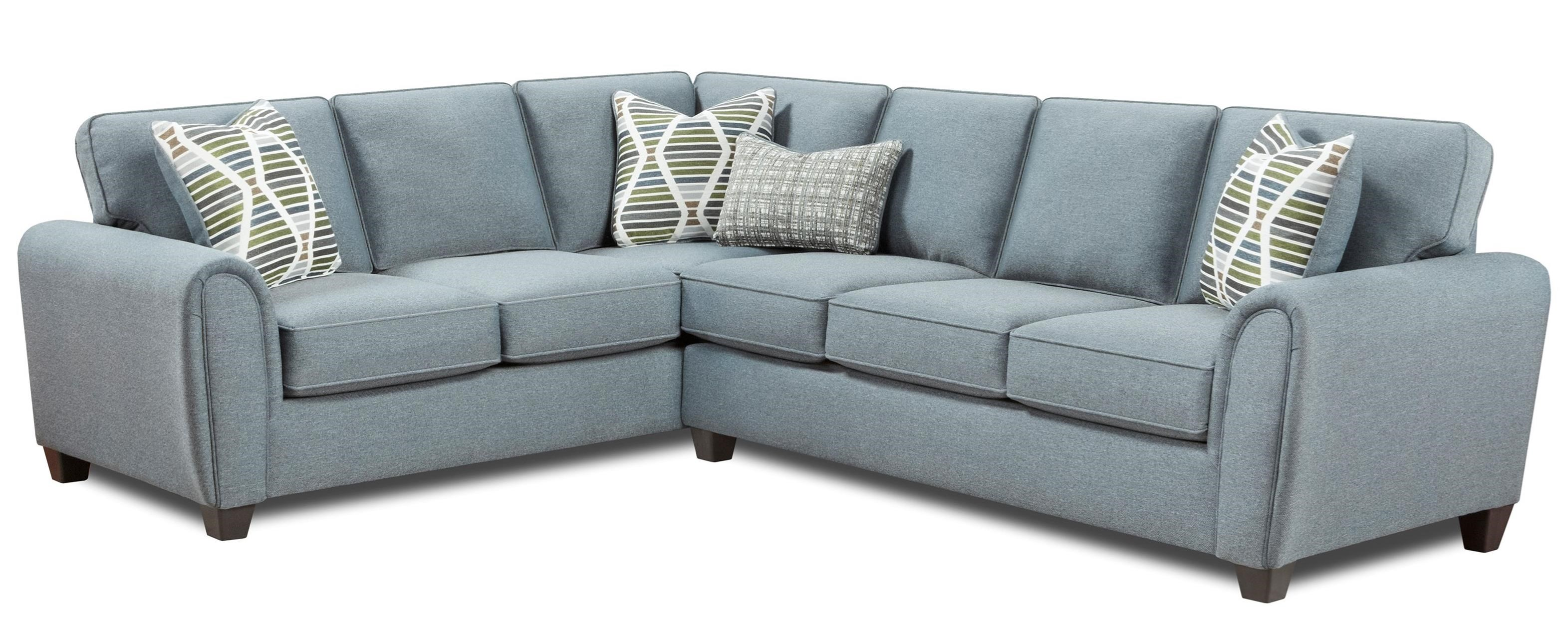 49-00 2-Piece L-Shape Sectional by Fusion Furniture at Hudson's Furniture