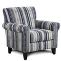 Fusion Furniture 502 Accent Chair - Item Number: 502Art Band Indigo