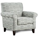 Fusion Furniture 502 Accent Chair - Item Number: 502Byzantine Blue