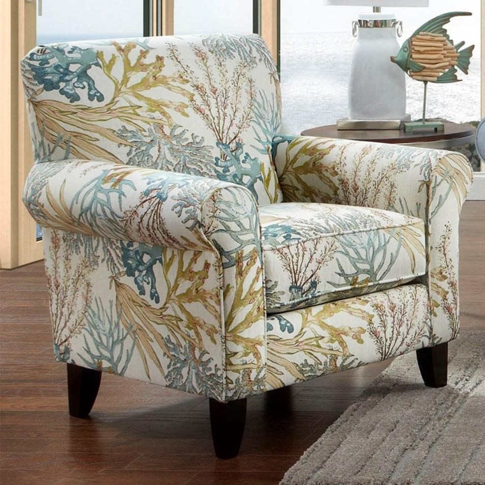 Fusion Furniture 502 Print Fabric Accent Chair Standard