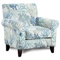Fusion Furniture 502 Accent Chair - Item Number: 502Coral Reef Oceanside