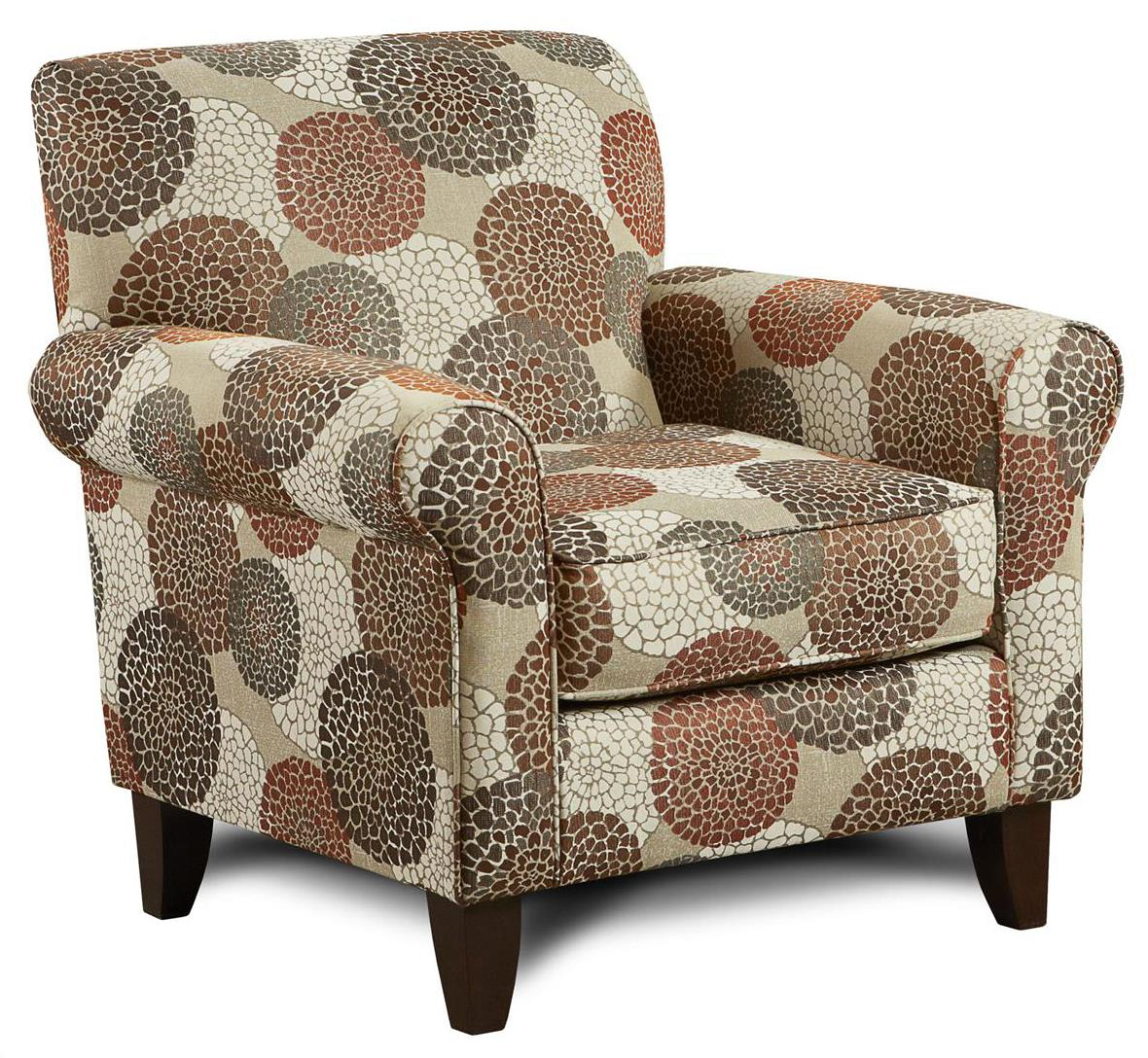 Fusion Furniture 502 Accent Chair - Item Number: 502Crysanthmum Umber