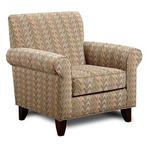 Fusion Furniture 502 - Frazzle Twilight Accent Chair