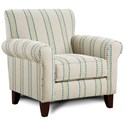 Fusion Furniture (Beaverton Store Only) 502 Accent Chair - Item Number: 502JB Harmony Calypso