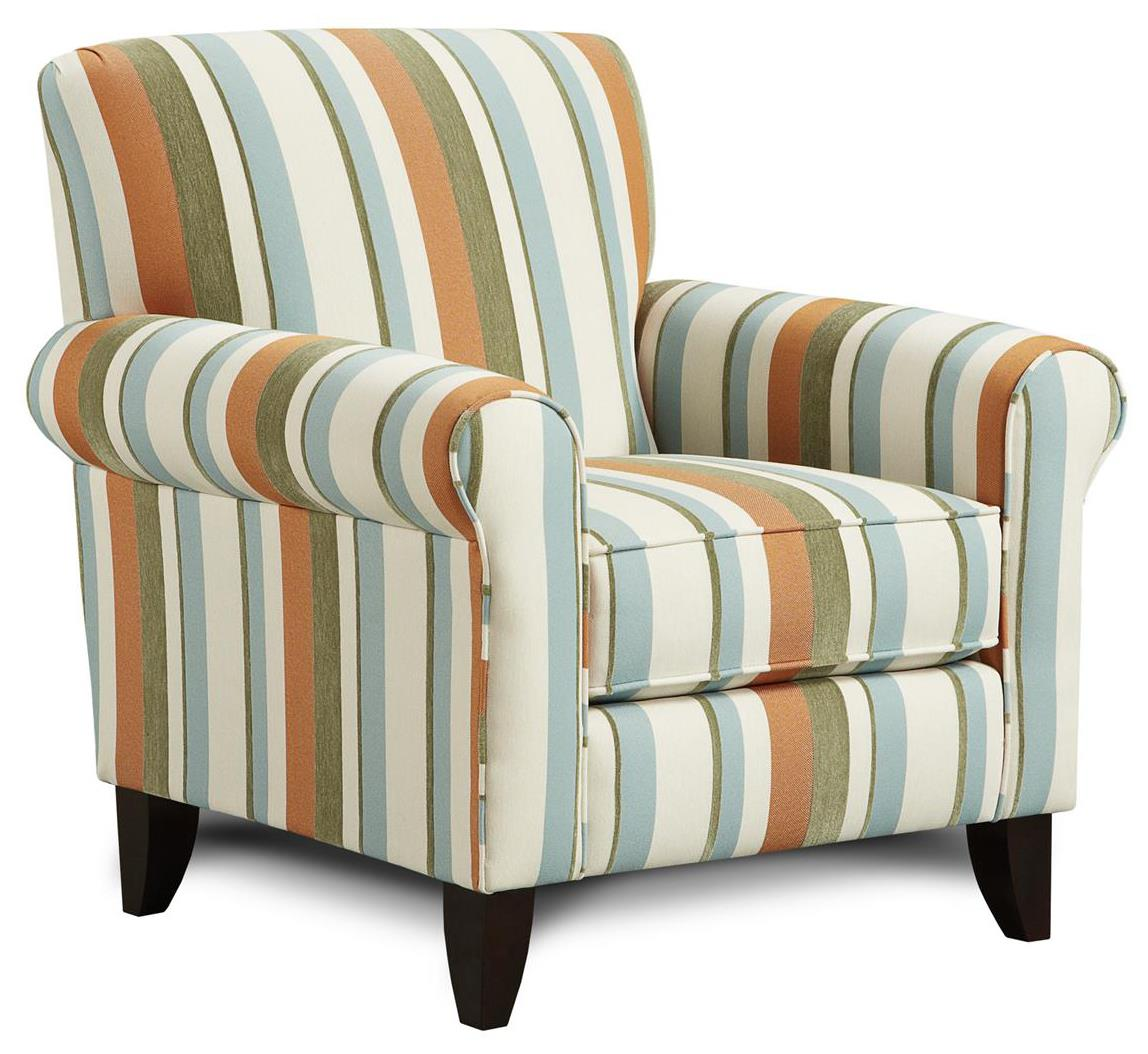 Fusion Furniture 502 Accent Chair - Item Number: 502Ocean Isle Tangerine