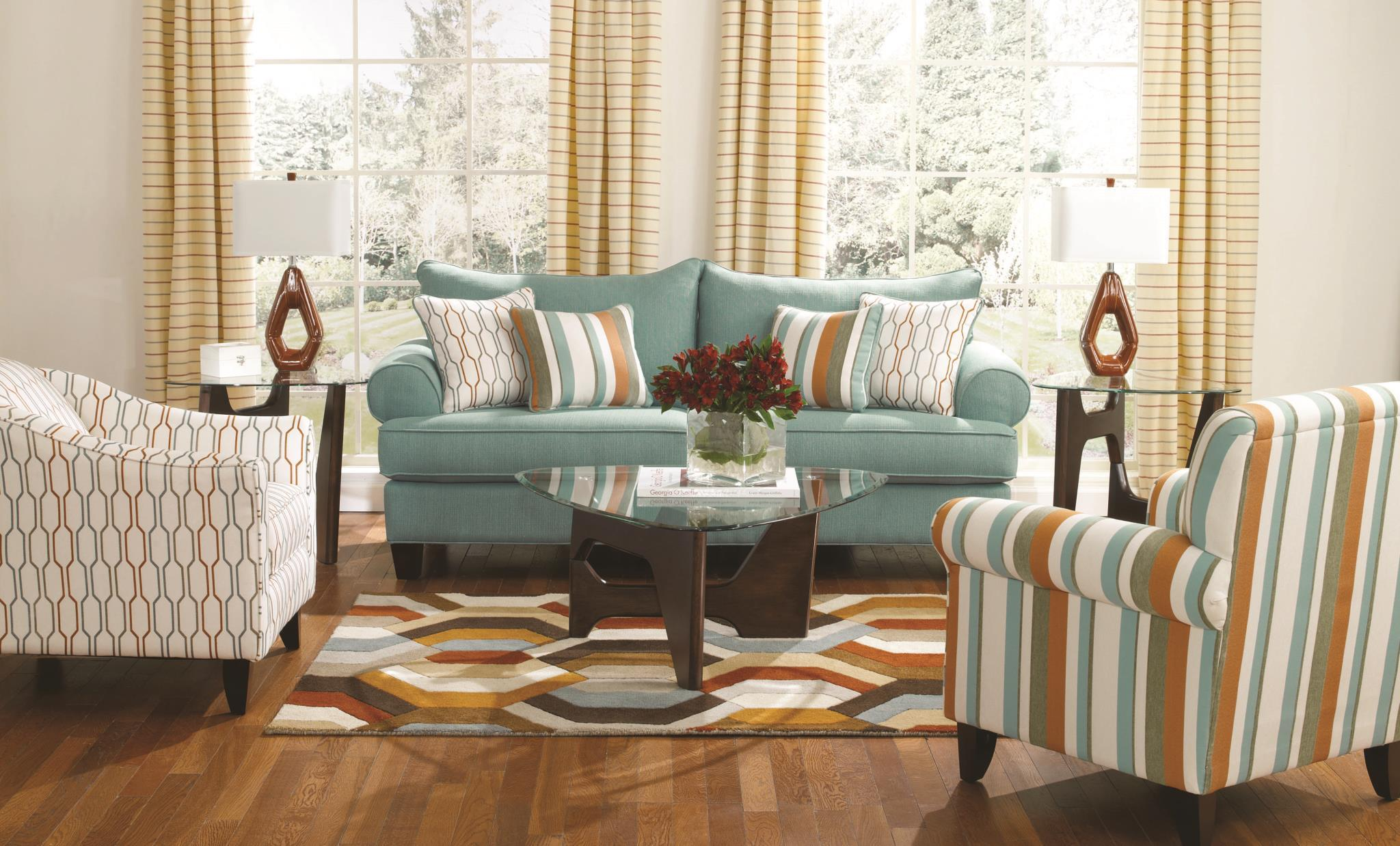 Fusion Furniture 502 Print Fabric Accent Chair Miskelly