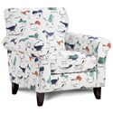 Fusion Furniture 502 Accent Chair - Item Number: 502Puppy Parade Mint