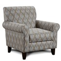Fusion Furniture 502 Accent Chair - Item Number: 502Rhombi Forms Greystone