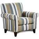 Fusion Furniture 502 Accent Chair - Item Number: 502Secret Indigo