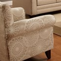 Fusion Furniture 502 Accent Chair - Item Number: 502Spirograph Beige