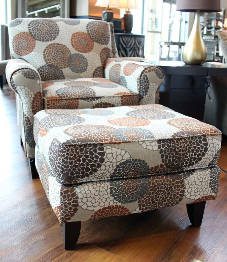 Fusion Furniture 503 Chrysanthmum Umber Ottoman - Item Number: 503