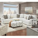 Fusion Furniture 51-00 3-Piece Sectional - Item Number: 51-21L-KPBraxton Ivory+15+21R-KP