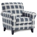 Fusion Furniture 512 Accent Chair - Item Number: 512Stanza Navy