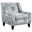 Fusion Furniture 522 Chair - Item Number: 522Swag Cobalt