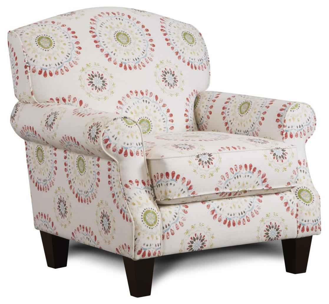 Fusion Furniture 532 Accent Chair - Item Number: 532Colorwheel Coral