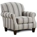 Fusion Furniture 532 Accent Chair - Item Number: 532Flemish Charcoal