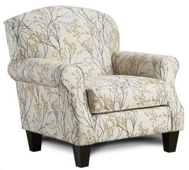 Fusion Furniture 532 Accent Chair - Item Number: 532Myla Marigold