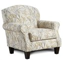 Fusion Furniture 532 Marigold Accent Chair with Rolled Arms - Item Number: 532Myla Marigold