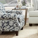 Fusion Furniture 532 Accent Chair - Item Number: 532Sophie Indigo