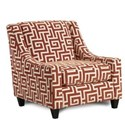 Fusion Furniture 552 Accent Chair - Item Number: 552GREEK KEY PERSIMMONS