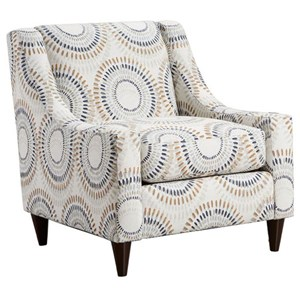 Fusion Furniture 552 Manifesto Accent Chair with Low Profile Arms
