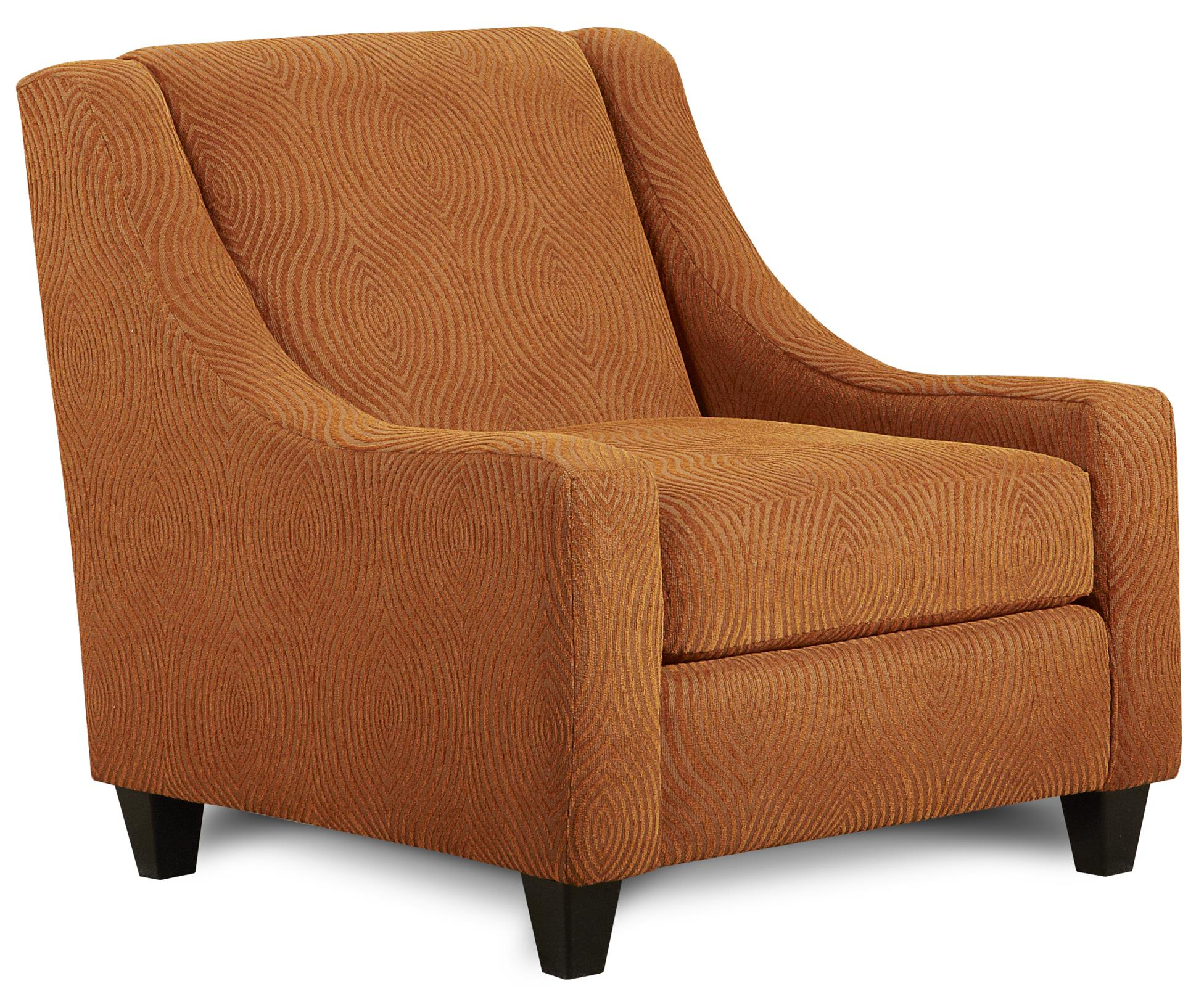 Orange accent chair - Fusion Furniture 552 Accent Chair Item Number 552spinoff Orange