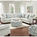 Fusion Furniture 59-00 2-Piece Sectional - Item Number: 59-31LInvitation Mist+33R