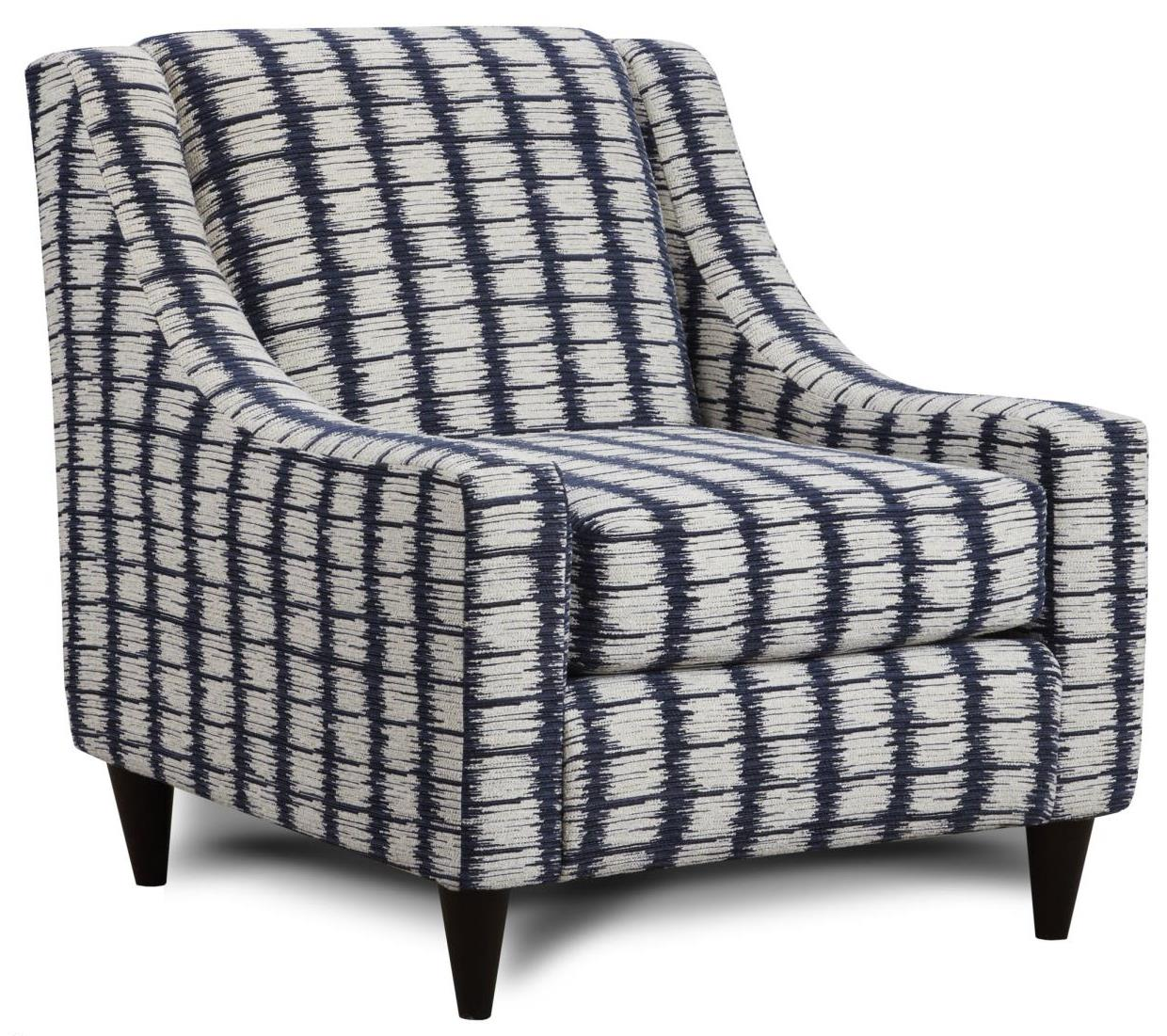 Fusion Furniture 592 Accent Chair - Item Number: 592Four Points Navy