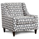 Fusion Furniture 592 Accent Chair - Item Number: 592Plato Wine Frost