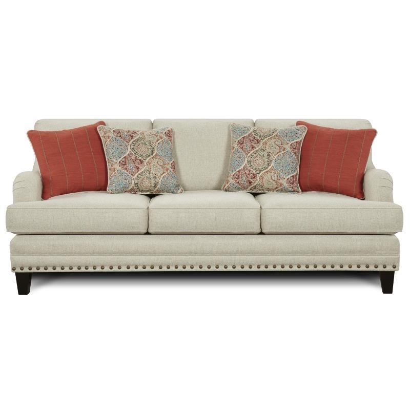 Fusion Furniture 5960 Sofa - Item Number: 5960 Aria Linen