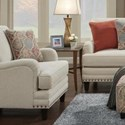 Fusion Furniture 5960 Chair - Item Number: 5962ARIA LINEN