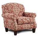 Fusion Furniture Longevity Muslin Bedoya Pepper Accent Chair - Item Number: 532BEDOYA-PEPPER