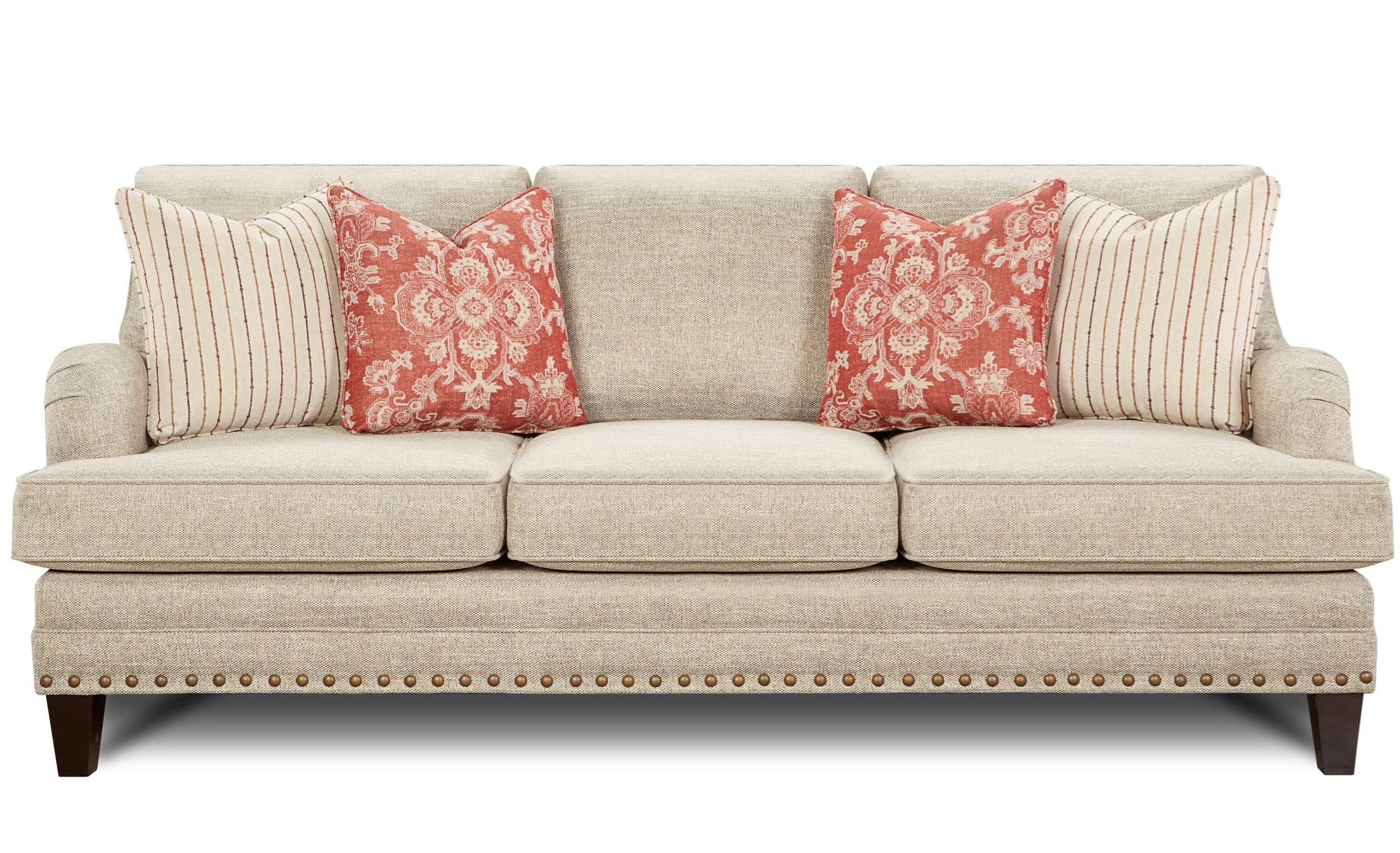 Longevity Transitional Sofa with Nail Head Trim | Ruby ...