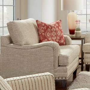 Fusion Furniture 5970 Transitional Chair With Nail Head Trim
