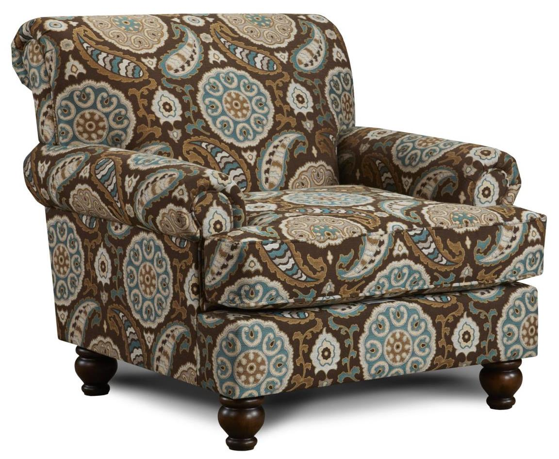 Fusion Furniture 622 Chair - Item Number: 622Artisan Turquoise