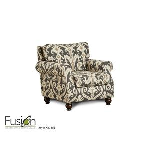 Fusion Furniture 652 Casbah Mink Accent Chair