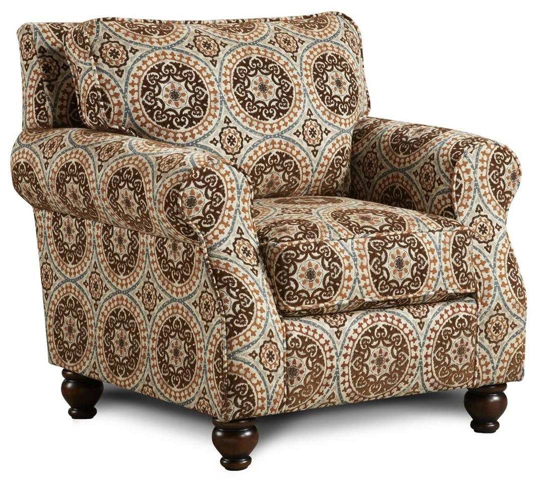 Fusion Furniture 652 Chair - Item Number: 652Abrego Teal