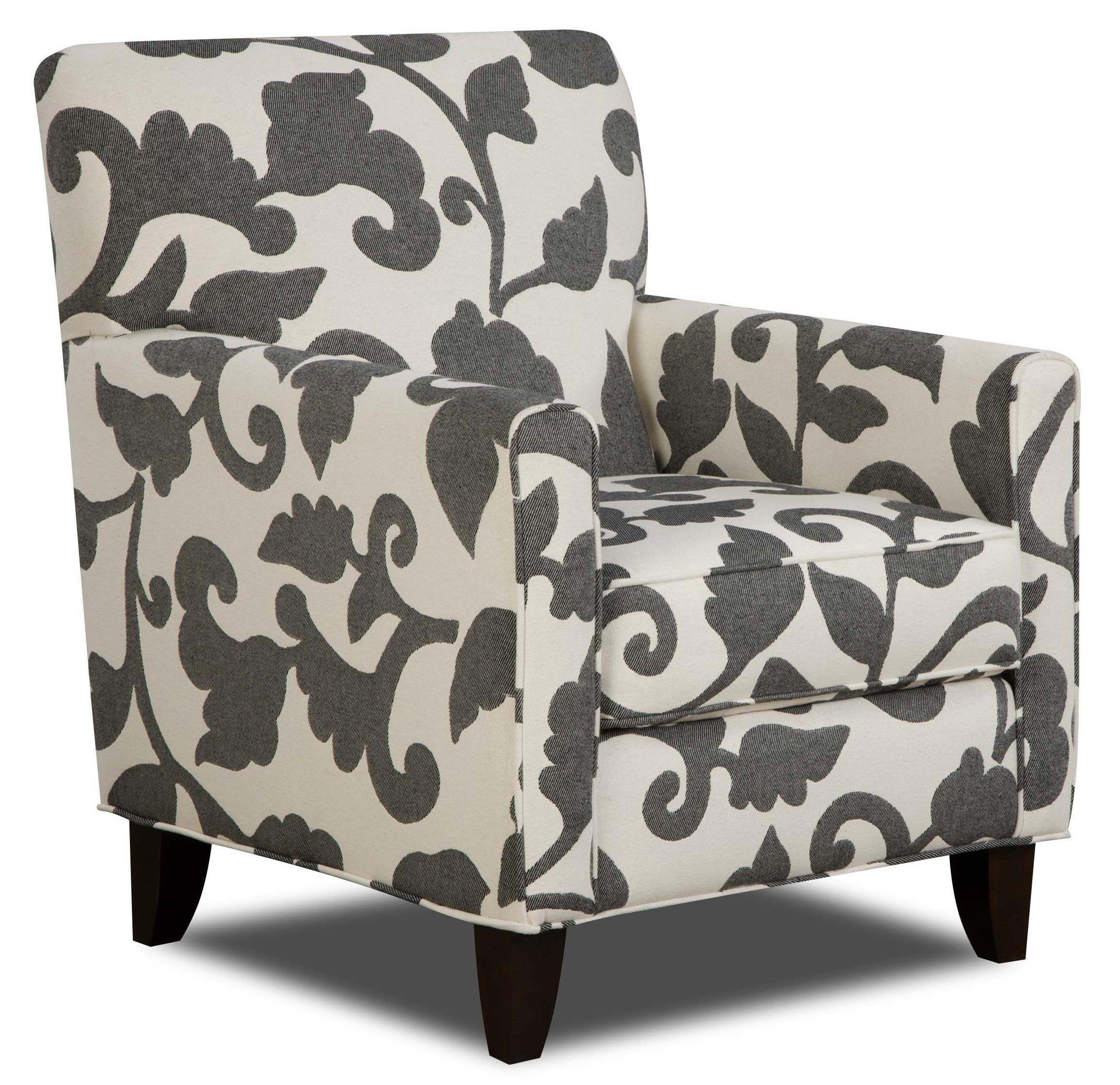 Fusion Furniture 702 - Marcie Onyx Accent Chair - Item Number: 702 MO