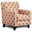 Fusion Furniture 702 - Aura Granite Accent Chair - Item Number: 702AG