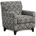 Fusion Furniture 702 Accent Chair - Item Number: 702Hyphen Onyx