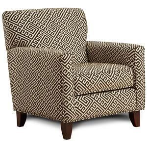 Fusion Furniture 702 - Thespian Mocha Accent Chair