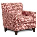 Fusion Furniture 702 Accent Chair - Item Number: 702Switchback Coral