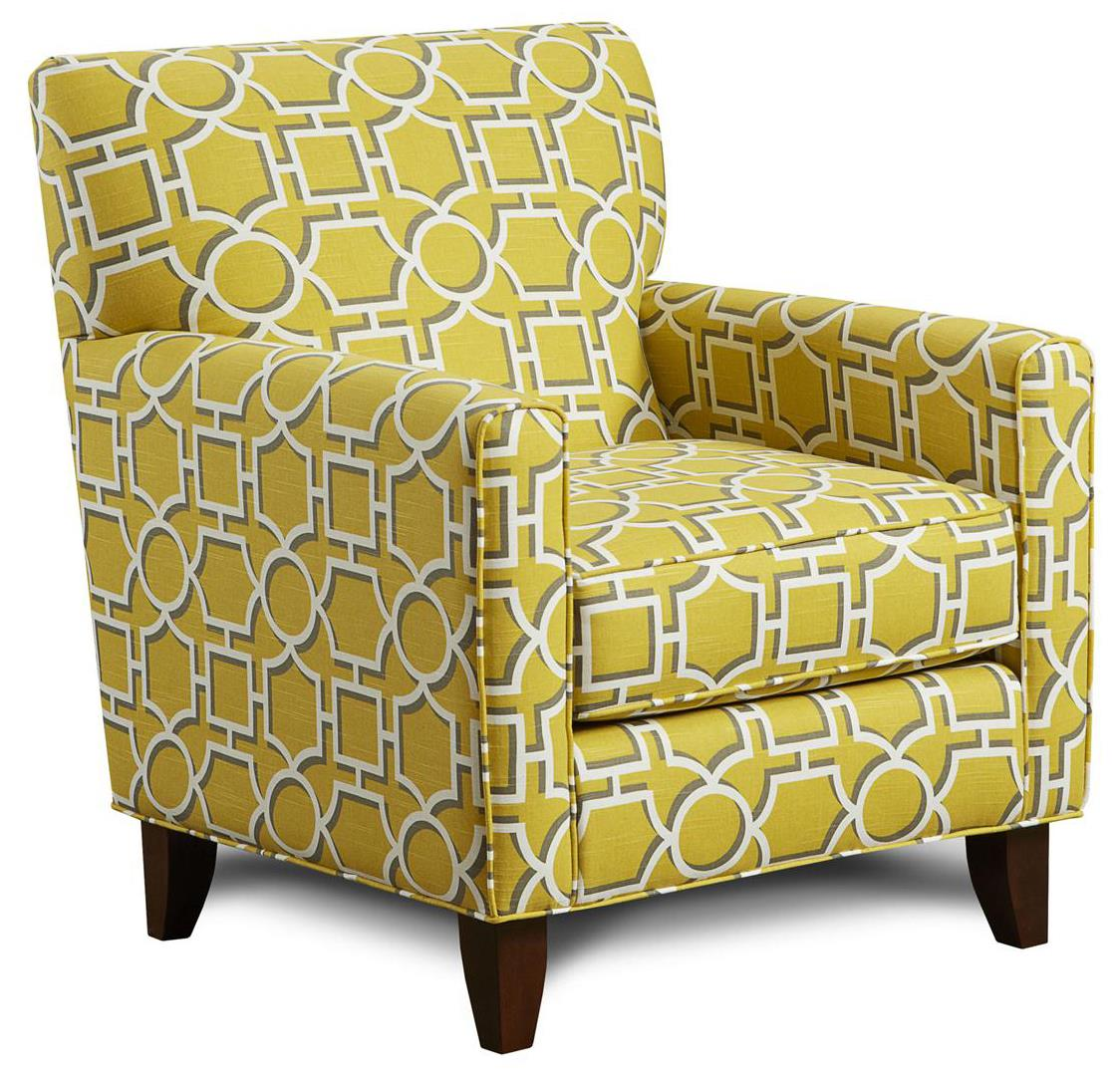 Fusion Furniture 702 Accent Chair - Item Number: 702Vreeland Dandelion
