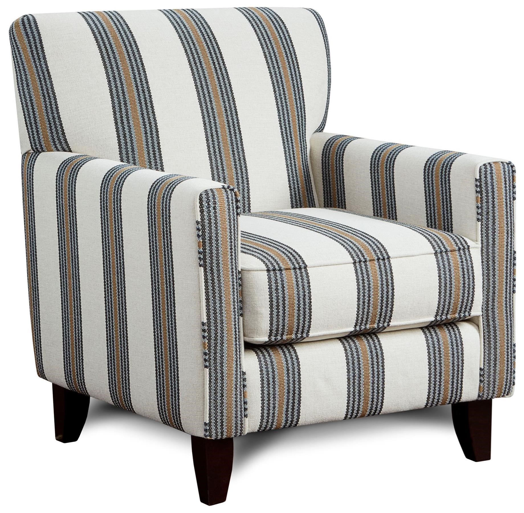 Fusion Furniture 702 Contemporary Accent Chair Royal