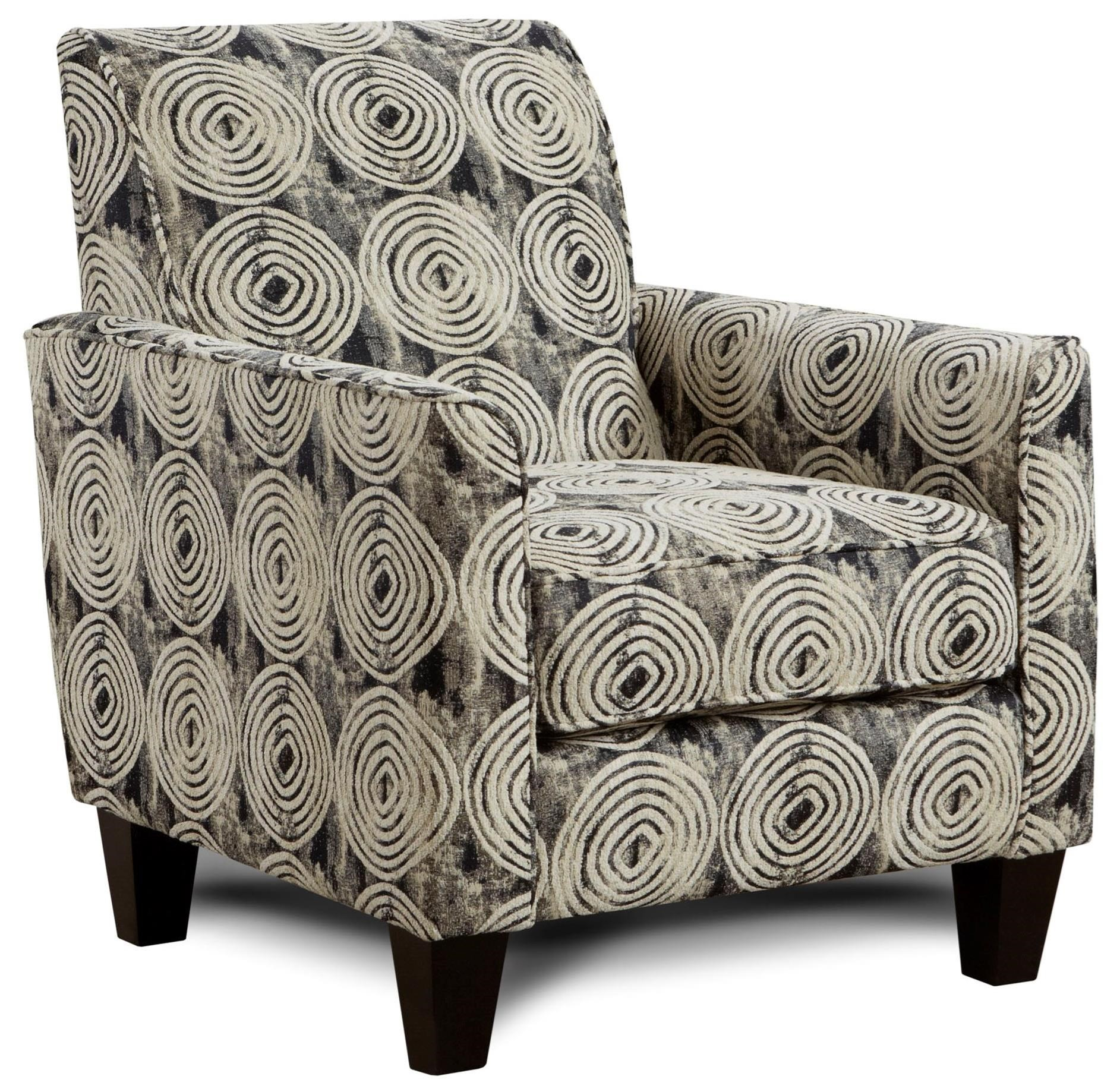 Fusion Furniture 722 Chair - Item Number: 722Spiral Onyx