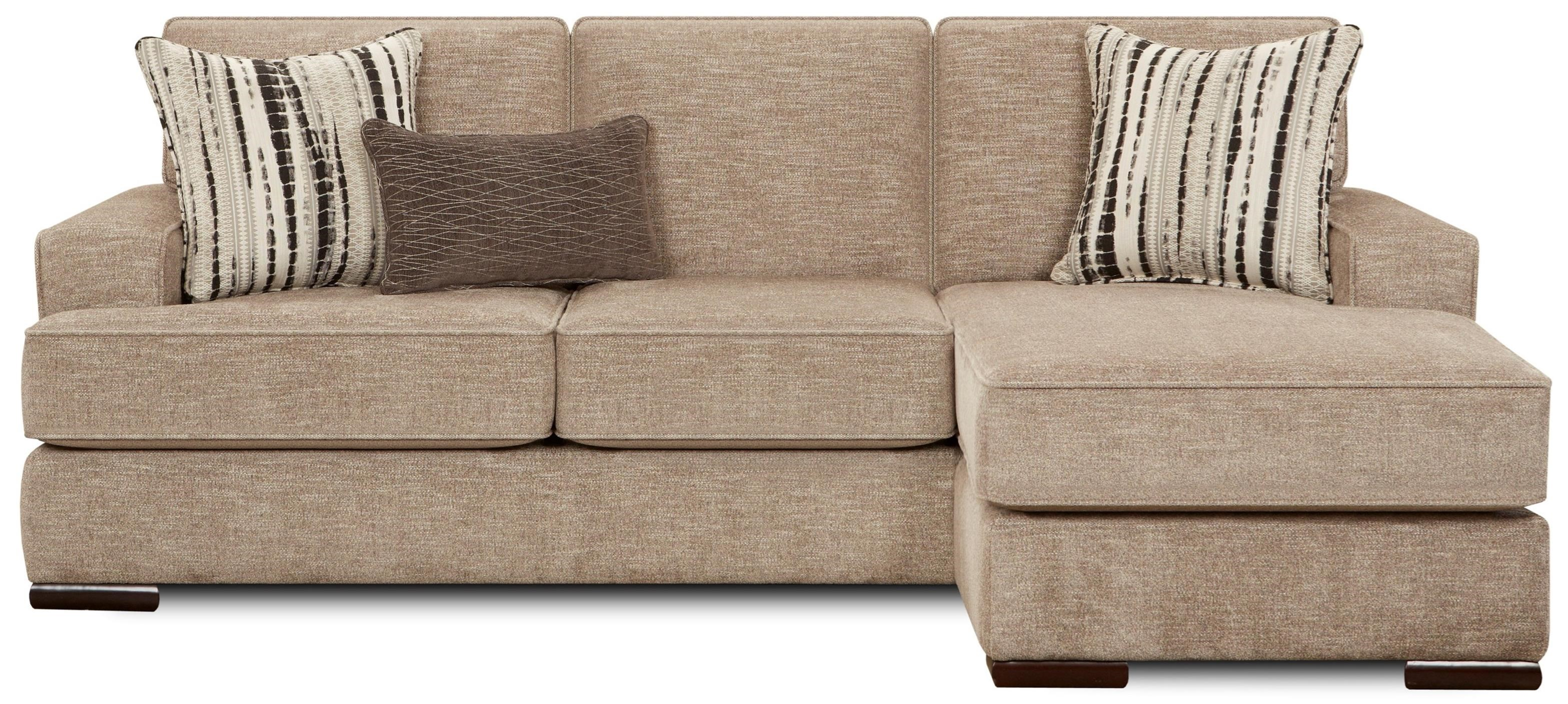 8560 Contemporary Sofa with Chaise Lounge by Fusion Furniture at Sheely\'s  Furniture & Appliance
