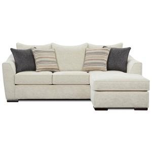 Fusion Furniture Alton Silver Contemporary L Shaped