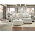 Fusion Furniture 9778 Sofa - Item Number: 9770 Vibrant Vision Oatmeal