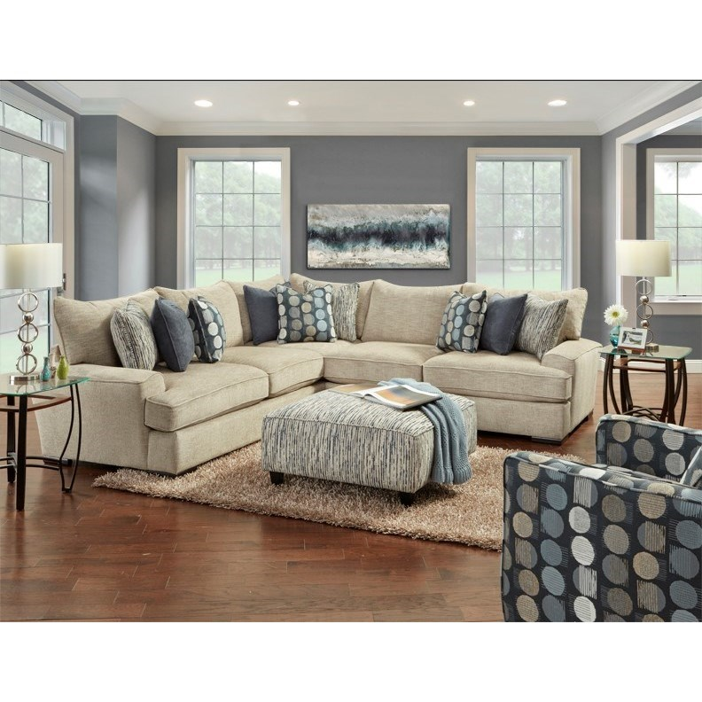 2000 Stationary Living Room Group by Fusion Furniture at Miller Waldrop Furniture and Decor