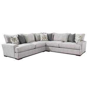 Fusion Furniture Alton Silver L-Shaped Sectional